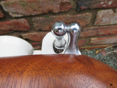 Art Deco High Level Mahogany & Chrome Toilet Seat