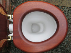 """Standard"" Vintage 1930/50s Art Deco High Level Toilet & Mahogany Seat + Lid"