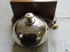 Art Deco Wood & Brass Electric Doorbell - 3 -6 volts