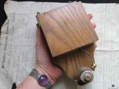 Restored Art Deco Wood & Brass Electric Conical Doorbell - 12 volts