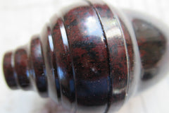 Vintage Mottled Bakelite Electric Servants Bell Push - Ribbed