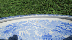 Victorian Blue and White Transfer Printed Thunderbox Toilet Bowl (3)
