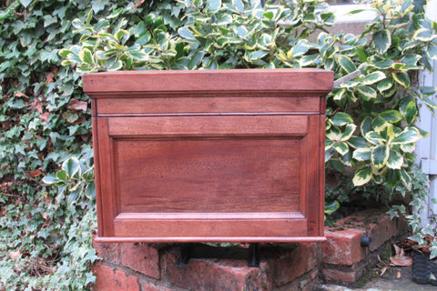 Vintage Restored High Level Toilet Cistern in Mahogany - with Lid