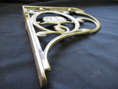 "9"" Brass High Level Toilet Cistern Brackets - Art Nouveau Style"