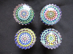 4 Small Vintage Perthshire Millefiori Glass Paperweight Drawer Handles