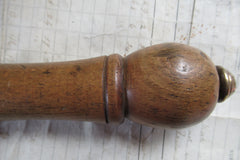 Large Antique Wood and Brass High Level Toilet Cistern Pull (16)