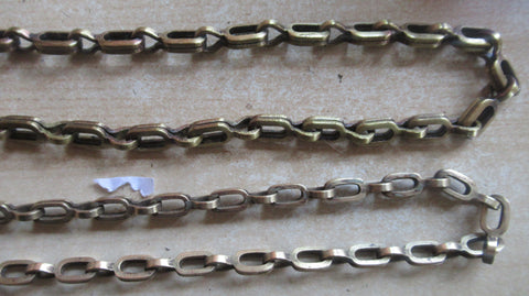 2 x Antique Solid Brass Toilet Chains