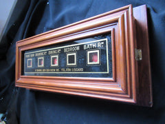 Antique Victorian 5 Room Butler's / Servant's Indicator Signal Box - Liscard Wirral