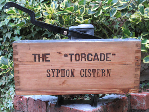 "Restored Wooden High Level Toilet Syphon Cistern - ""The Torcade"""