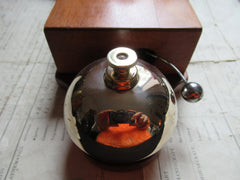 Substantial Restored Antique Wood & Silver Coloured Brass Electric Door Bell - 6-12 Volts
