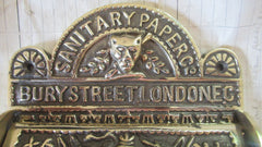 Original Antique Brass Toilet Roll / Paper Holder - Bury Street London