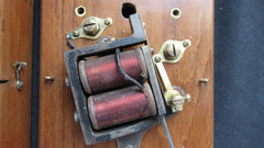 Very Large Restored Brass and Wood Electric Door Bell - 8 Volts