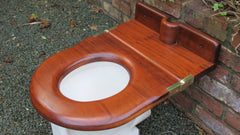 DRAFT King George V Antique Mahogany High Level Throne Toilet Seat - Fit for a King