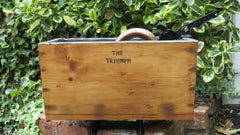 Antique Restored Wooden High Level Toilet Cistern - Triumph - 1908