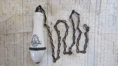 Antique Advertising Toilet Cistern Chain & Pull - G.L. Wilson, Tottenham, London