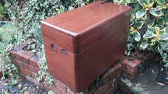 Vintage Restored High Level Japkap Toilet Cistern in Mahogany