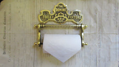 Solid Brass Antique Toilet Roll / Paper Holder 'The Domino'