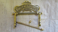 Solid Brass Antique Toilet Roll / Paper Holder 'Requisite'