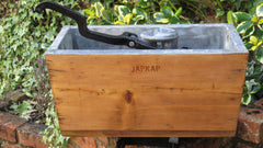 "Antique Wooden ""Japkap"" High Level Toilet Cistern"