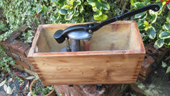 "1906 Restored Wooden High Level Toilet Cistern - ""Mignon"" - Woodhouse & Co. Sheffield"