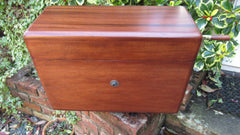 Vintage Restored Semi - High Level Mahogany Toilet Cistern - Hampton's Ltd, Cardiff