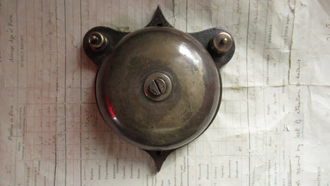 Restored 1900s Cast Iron & Brass Door Bell - Self Contained - 12v