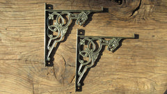 "7"" Brass High Level Toilet Cistern Brackets - Dragon"