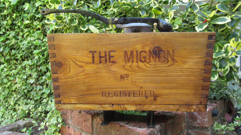 "1906 Restored Wooden High Level Toilet Cistern - ""Mignon No 8"" - Alporte"