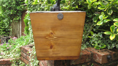 "Restored Wooden High Level Toilet Cistern - ""Waterfall"" - Kirkstall Leeds"