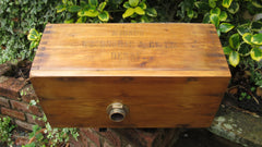 "Restored Wooden High Level Toilet Cistern - ""Mignon"" - Woodhouse Derby"