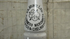 Antique Advertising High Level Toilet Cistern and Chain Pull - Hunt, Ipswich & Chelmsford