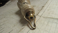 Antique Ceramic & Brass High Level Toilet Cistern Chain Pull - Bulbous