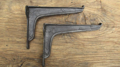 "8 1/2"" Reclaimed Industrial Cast Iron Shelf Brackets"