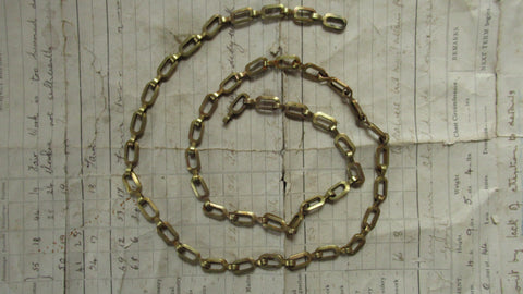 Antique Solid Brass Chunky Chain ideal for Toilet or Light pull