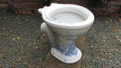 """The Villa"" - Blue and White Victorian High Level Toilet"