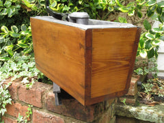 "Restored Wooden High Level Toilet Cistern - ""Japkap"""