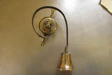 Antique Servants / Butler / Maids Mechanical Brass Door Bell - Small