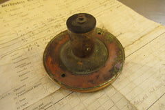 Antique Bronze & China Electric Door Bell Push - 4""