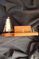 Restored Antique Wood & Chromed Brass Electric Conical Doorbell - 12 Volts