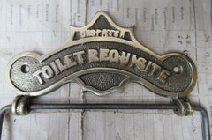 Brass Antique Toilet Roll / Paper Holder 'Requisite London'
