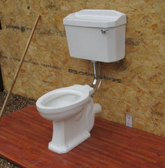 """Pyramid Silent Syphonic"" Vintage 1930/50s Art Deco Semi-High Level Toilet Set - Cistern & Pipe"