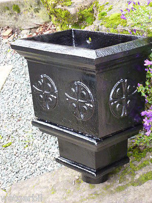 Cast iron rain hopper - restored