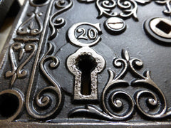 Ornate Art Nouveau Cast Iron Privacy Door Lock