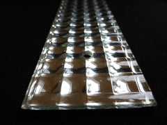 Seven Art Deco Mirrored Glass Door Finger Plates