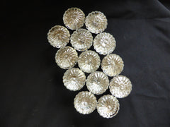 7 Pairs Rare Antique Flower Glass Door Knobs