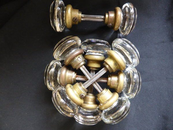 5 Pairs Art Deco Round Glass Door Knobs Dragonquarry