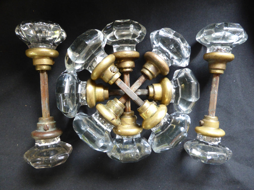 6 Pairs Antique Octagonal Glass Door Knobs Circa 1901 – DragonQuarry ...