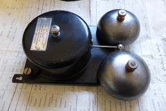 Vintage French Metal & Steel Double Telephone Extension Bell