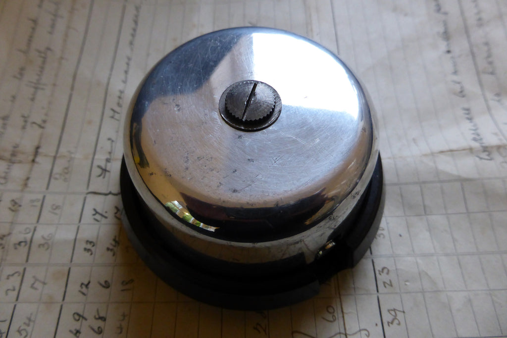 Vintage Steel & Bakelite Telephone Extension Bell - Self contained