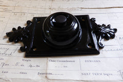 Vintage Restored Cast Iron Door Bell Push